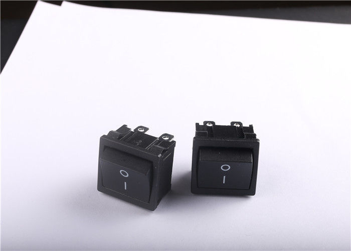 Black ON OFF Rocker Switch 16A 250VAC With -25~85 Degree Operating Temperature