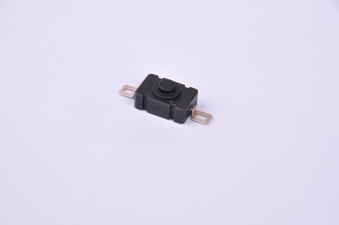 Black Waterproof Micro Push Button Switch , 2 Pin Toggle Switch 6A 250Vac