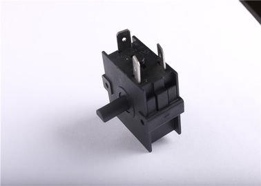 Black Rotary Selector Switch , Three Position Rotary Switch Free Sample