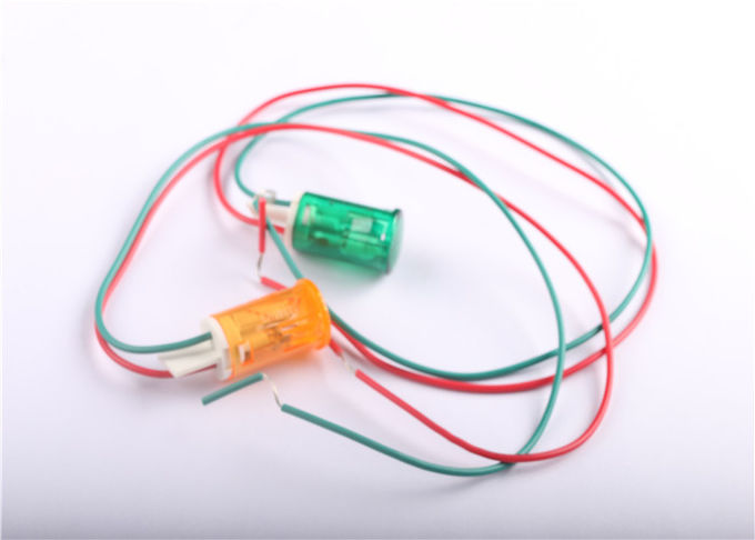 High Performance Small Indicator Lights 12v 24v 220v Green Lamp With Two Wires Red