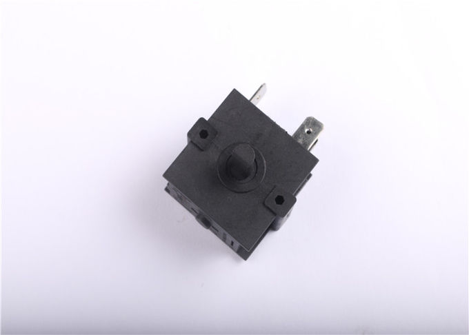 3 Pins Rotary Selector Switch 3A 6A 125V 250V AC , 50MΩ Max Contact Resistance